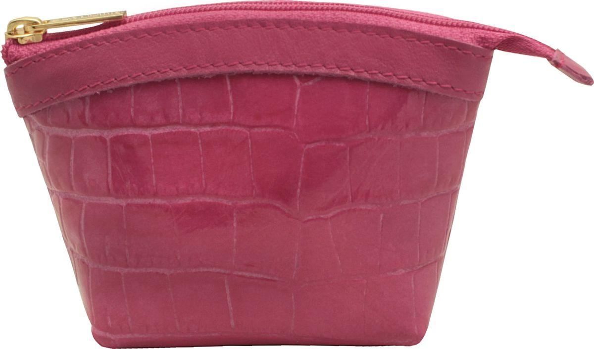 Кошелек-монетница женский Dimanche, цвет: розовый. 258/27A16-11154_711Кошелек-монетница Dimanche выполнен из натуральной лаковой кожи и оформлен декоративным тиснением под рептилию. Изделие закрывается с помощью застежки-молнии. Внутри расположено главное отделение с поверхностью из шелковистого текстиля.