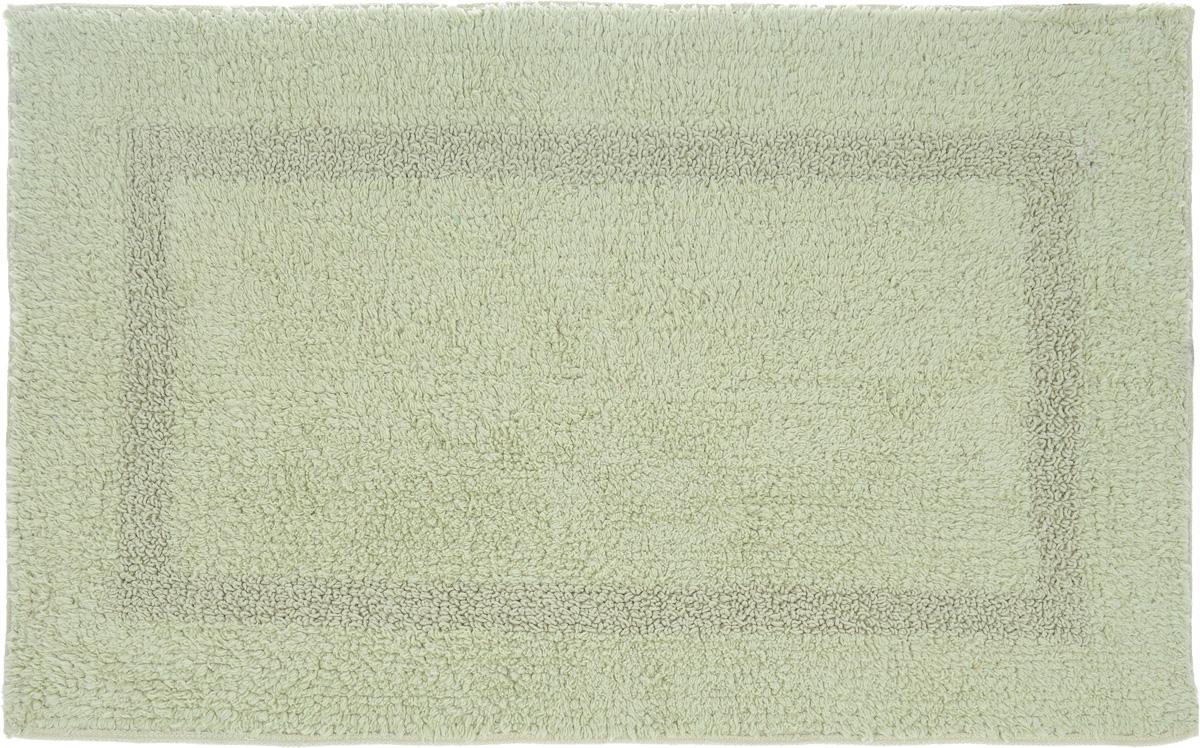 Коврик для ванной Arloni, двухсторонний, цвет: светло-зеленый, 50 x 75 см19201Двухсторонний коврик для ванной Arloni выполнен из 100% хлопка. Коврик долго прослужит в вашем доме, добавляя тепло и уют, а также внесет неповторимый колорит в интерьер ванной комнаты.