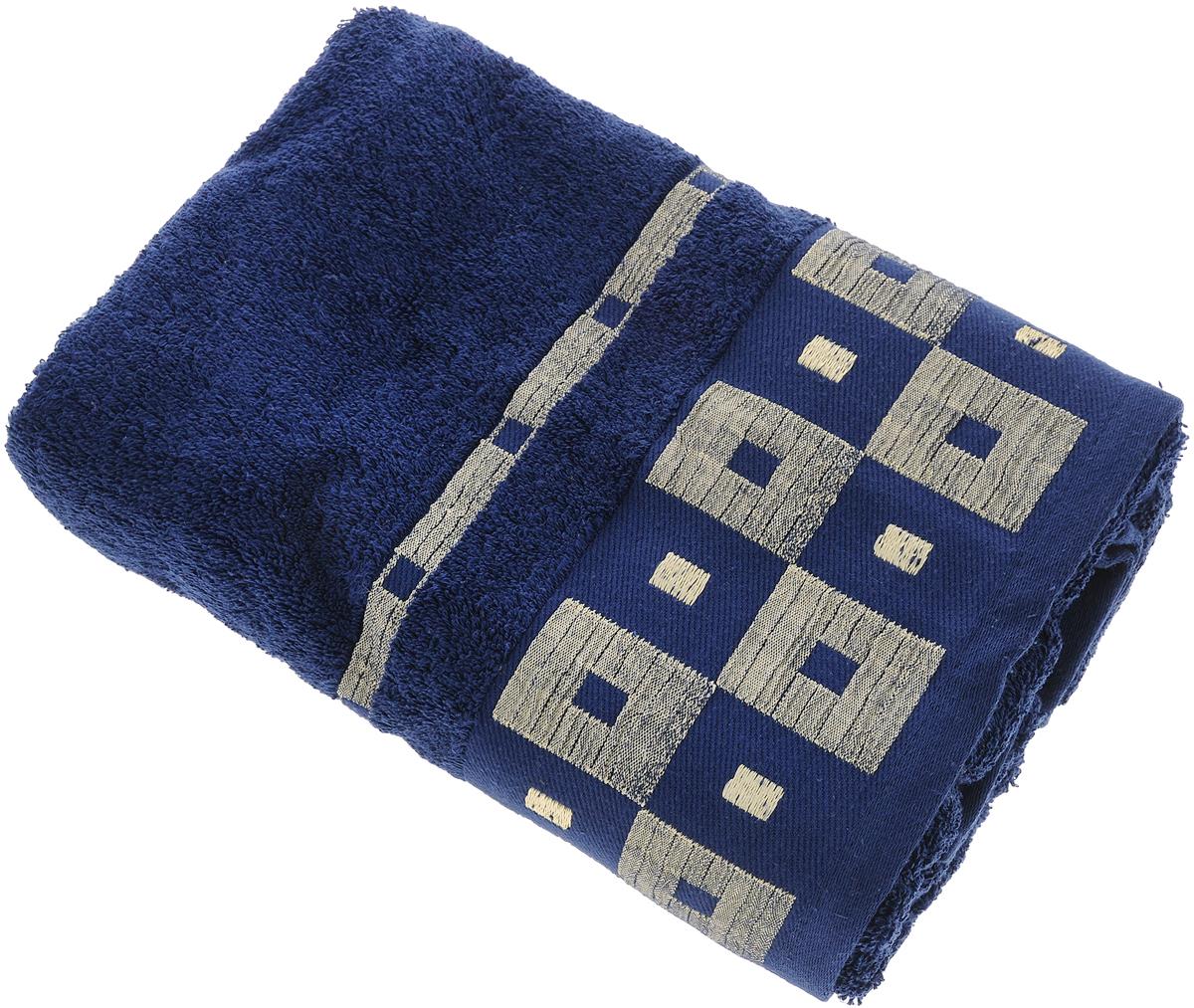 Полотенце Aisha Home Textile, цвет: синий, 70 х 140 смKOC_SOL249_G4Махровые полотенца AISHA Home Textile идеальное сочетание цены и качества. Полотенца упакованы в стильную подарочную коробку. В состав входит только натуральное волокно - хлопок. Лаконичные бордюры подойдут для любого интерьера ванной комнаты. Полотенца прекрасно впитывает влагу и быстро сохнут. При соблюдении рекомендаций по уходу не линяют и не теряют форму даже после многократных стирок.Состав: 100% хлопок.