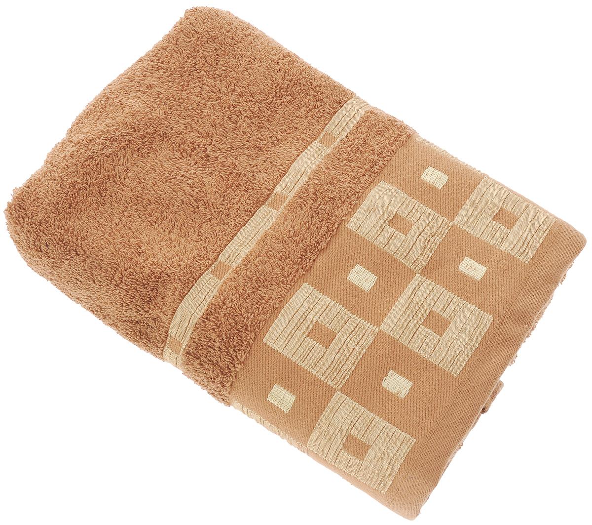 Полотенце Aisha Home Textile, цвет: коричневый, 70 х 140 смУзТ-ПМ-114-09-20кМахровые полотенца AISHA Home Textile идеальное сочетание цены и качества. Полотенца упакованы в стильную подарочную коробку. В состав входит только натуральное волокно - хлопок. Лаконичные бордюры подойдут для любого интерьера ванной комнаты. Полотенца прекрасно впитывает влагу и быстро сохнут. При соблюдении рекомендаций по уходу не линяют и не теряют форму даже после многократных стирок. Состав: 100% хлопок.
