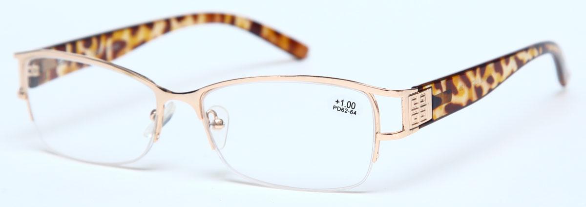 Proffi Home Очки корригирующие (для чтения) 302 Fabia Monti +1.00, цвет: золотойPH7360Надев эти очки, вы сможете четко видеть пространство впереди себя. Они удобны при чтении. Оправа очков легкая и не создает никакого дискомфорта.