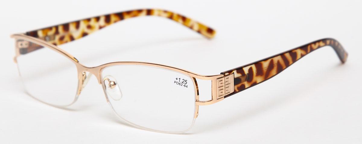 Proffi Home Очки корригирующие (для чтения) 302 Fabia Monti +1.25, цвет: золотойGESS-701Надев эти очки, вы сможете четко видеть пространство впереди себя. Они удобны при чтении. Оправа очков легкая и не создает никакого дискомфорта.