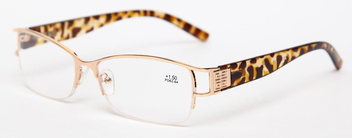 Proffi Home Очки корригирующие (для чтения) 302 Fabia Monti +1.50, цвет: золотойPH7362Надев эти очки, вы сможете четко видеть пространство впереди себя. Они удобны при чтении. Оправа очков легкая и не создает никакого дискомфорта.