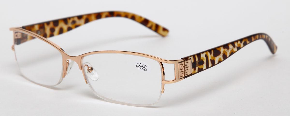Proffi Home Очки корригирующие (для чтения) 302 Fabia Monti +2.00, цвет: золотойAS003Надев эти очки, вы сможете четко видеть пространство впереди себя. Они удобны при чтении. Оправа очков легкая и не создает никакого дискомфорта.