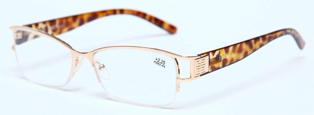 Proffi Home Очки корригирующие (для чтения) 302 Fabia Monti +2.25, цвет: золотойPH7365Надев эти очки, вы сможете четко видеть пространство впереди себя. Они удобны при чтении. Оправа очков легкая и не создает никакого дискомфорта.