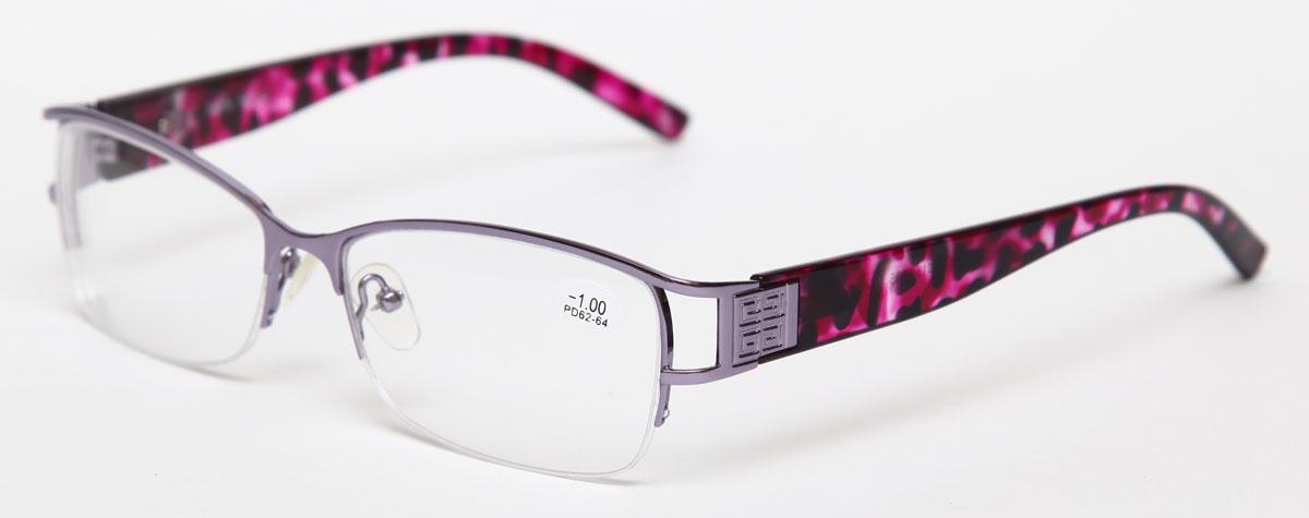 Proffi Home Очки корригирующие 302 Fabia Monti -1.00, цвет: серыйперфорационные unisexНадев эти очки, вы сможете четко видеть пространство впереди себя. Они удобны при чтении. Оправа очков легкая и не создает никакого дискомфорта.
