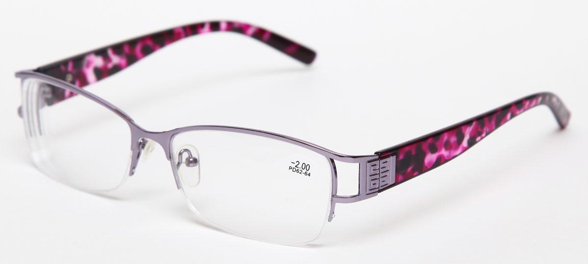 Proffi Home Очки корригирующие 302 Fabia Monti -2.00, цвет: серыйперфорационные unisexНадев эти очки, вы сможете четко видеть пространство впереди себя. Они удобны при чтении. Оправа очков легкая и не создает никакого дискомфорта.