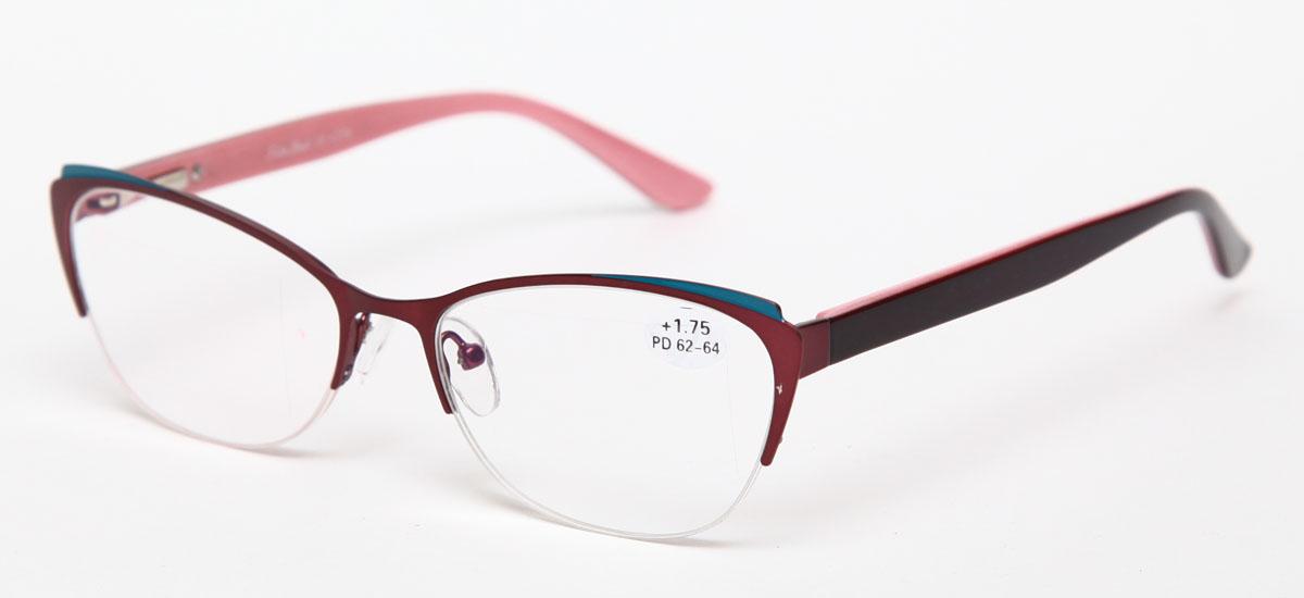 Proffi Home Очки корригирующие (для чтения) 830 Fabia Monti +1.75, цвет: бордовыйперфорационные unisexНадев эти очки, вы сможете четко видеть пространство впереди себя. Они удобны при чтении. Оправа очков легкая и не создает никакого дискомфорта.