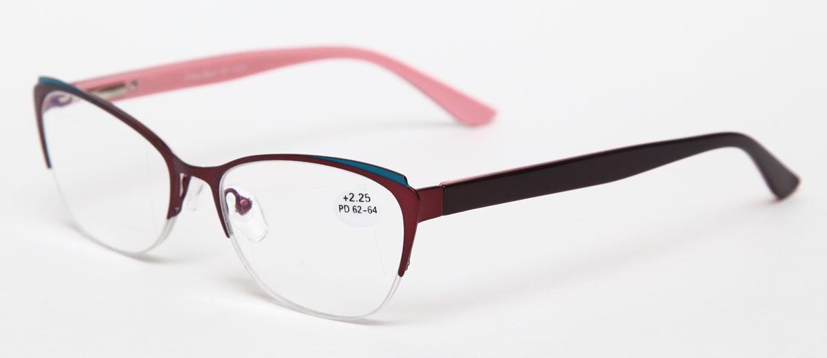 Proffi Home Очки корригирующие (для чтения) 830 Fabia Monti +2.25, цвет: бордовыйперфорационные unisexНадев эти очки, вы сможете четко видеть пространство впереди себя. Они удобны при чтении. Оправа очков легкая и не создает никакого дискомфорта.