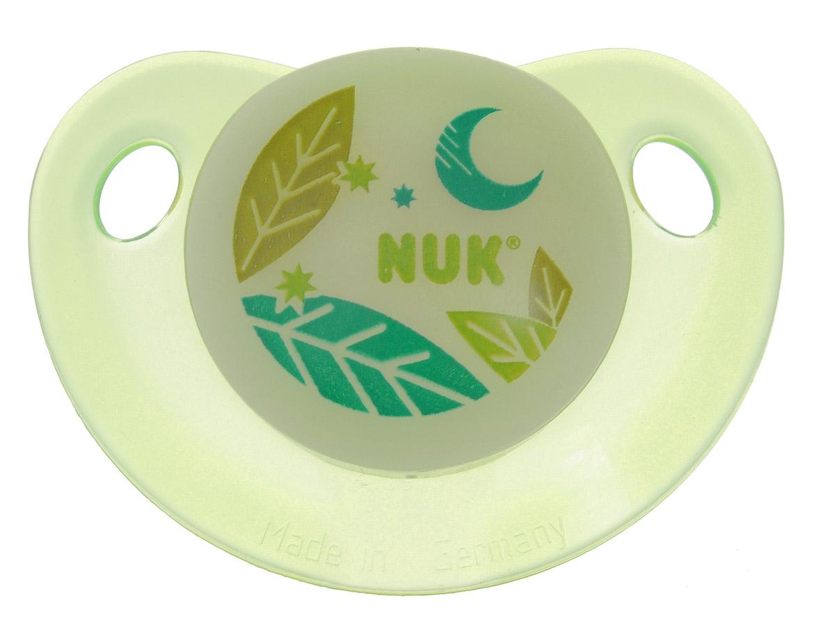 NUK Пустышка латексная для сна Листы ортодонтическая от 0 до 6 месяцев