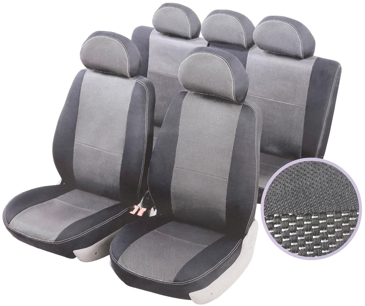 Чехлы автомобильные Senator Dakkar, для Hyundai Solaris 2010-, раздельный задний рядS3010111Автомобильные чехлы Senator Dakkar изготовлены из качественного жаккарда, триплированного огнеупорным поролоном толщиной 5 мм, за счет чего чехол приобретает дополнительную мягкость. Подложка из спандбонда сохраняет свойства поролона и предотвращает его разрушение. Водительское сиденье имеет усиленные швы, все внутренние соединительные швы обработаны оверлоком. Чехлы идеально повторяют штатную форму сидений и выглядят как оригинальная обивка сидений. Разработаны индивидуально для каждой модели автомобиля. Дизайн чехлов Senator Dakkar приближен к оригинальной обивке салона. Жаккардовый материал расположен в центральной части сидений и спинок, а также на подголовниках. Декоративная контрастная прострочка по периметру авточехлов придает стильный и изысканный внешний вид интерьеру автомобиля. В спинках передних сидений расположены карманы, закрывающиеся на молнию. Чехлы сохраняют полную функциональность салона - трансформация сидений, возможность установки детских кресел...