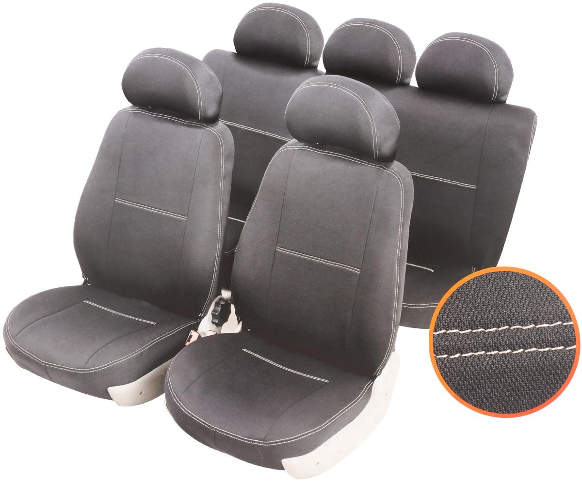 Чехлы автомобильные Azard Standard, для Hyundai Solaris хэтчбек 5-дверный 2010-, раздельный задний рядA4010111Автомобильные чехлы Azard Standard изготовлены из качественного полиэстера, триплированного огнеупорным поролоном толщиной 3 мм, за счет чего чехол приобретает дополнительную мягкость. Подложка из спандбонда сохраняет свойства поролона и предотвращает его разрушение. Водительское сиденье имеет усиленные швы, все внутренние соединительные швы обработаны оверлоком. Чехлы идеально повторяют штатную форму сидений и выглядят как оригинальная обивка. Разработаны индивидуально для каждой модели автомобиля. Дизайн чехлов Azard Standard приближен к оригинальной обивке салона. Двойная декоративная контрастная прострочка по периметру авточехлов придает стильный и изысканный внешний вид интерьеру автомобиля. В спинках передних сидений расположены карманы, закрывающиеся на молнию. Чехлы сохраняют полную функциональность салона - трансформация сидений, возможность установки детских кресел ISOFIX, не препятствуют работе подушек безопасности AIRBAG и подогреву сидений. Для...