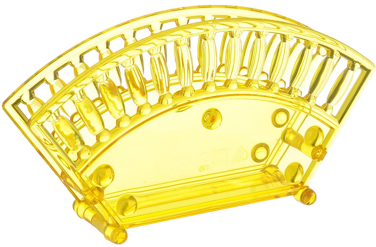 Салфетница Альтернатива, цвет: желтый, 17,5 х 4,7 х 9,5 смVT-1520(SR)Салфетница Альтернатива изготовлена из высококачественного пластика и оформлена оригинальной перфорацией. Изделие сочетает в себе изысканный дизайн с максимальной функциональностью. Такая салфетница станет практичным украшением вашего кухонного стола.