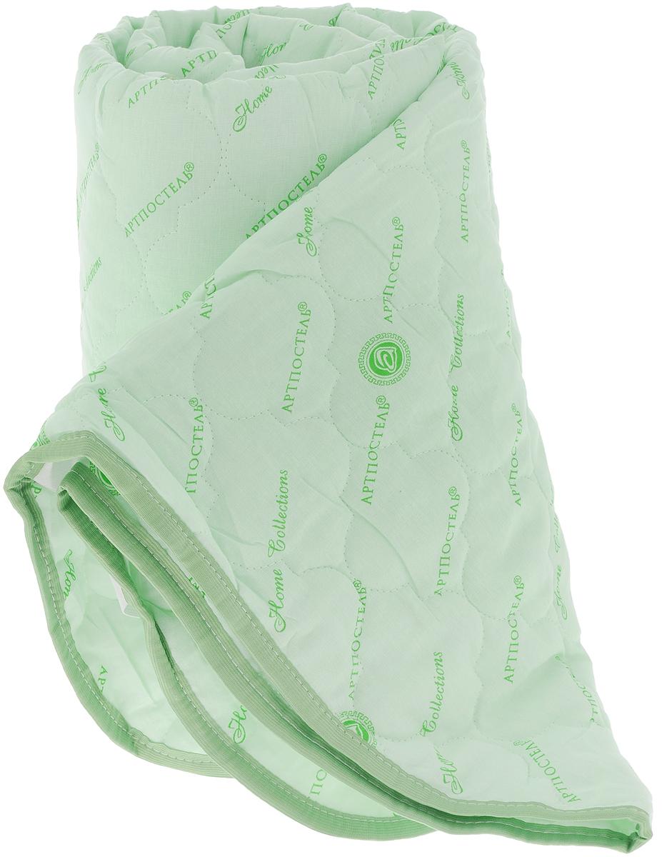 Наматрасник стеганый АртПостель, цвет: зеленый, 160 х 200 см3036_зеленыйНаматрасник АртПостель с наполнителем из полого сильно извитого силиконизированного волокна сделает ваш сон еще комфортнее. Чехол, выполненный из поликоттона, оформлен декоративной стежкой и кантом. Благодаря современным технологиям обработки, волокна наполнителя двигаются внутри изделия независимо друг от друга. Данное преимущество придает изделию пышность и упругость. Волокна не вызывают аллергии, способствуют циркуляции воздуха в изделии, не впитывают запахи. Наматрасник может подвергаться многочисленным стиркам, не теряя своих первоначальных качеств. Наматрасник оснащен резинками по углам, поэтому прочно удерживается на матрасе и избавляет вас от необходимости часто поправлять. Изделие защитит матрас от грязи и пыли и придаст дополнительный комфорт вашему спальному месту. Мягкий и легкий, наматрасник прекрасно подойдет для жестких кроватей и диванов, делая ваш сон спокойным и приятным. Наматрасник упакован в прозрачный пластиковый чехол на змейке с ручкой, что...