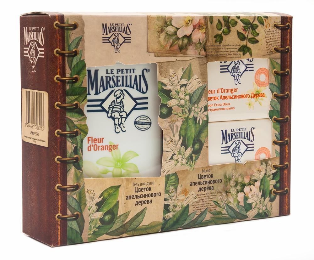 """Le Petit Marseillais Подарочный набор: Гель для душа """"Цветок апельсинового дерева"""", 250 мл + Экстрамягкое мыло """"Цветок апельсинового"""