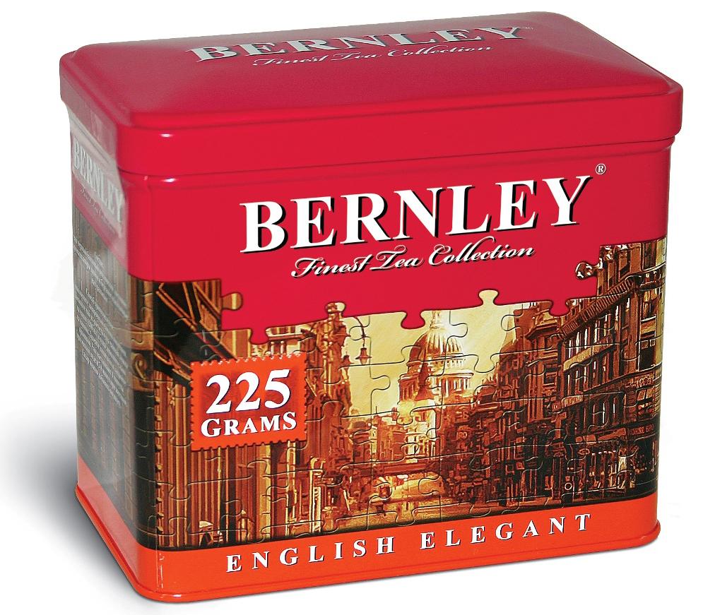 Bernley English Elegant черный листовой ароматизированный чай, 225 г (ж/б)1070123Bernley English Elegant - это поистине сказочный напиток, отличающийся невероятной легкостью и неповторимым букетом насыщенного вкуса настоящего цейлонского чая и нежного аромата тропического бергамота и лимона – достойное украшение премиальной коллекции Bernley.