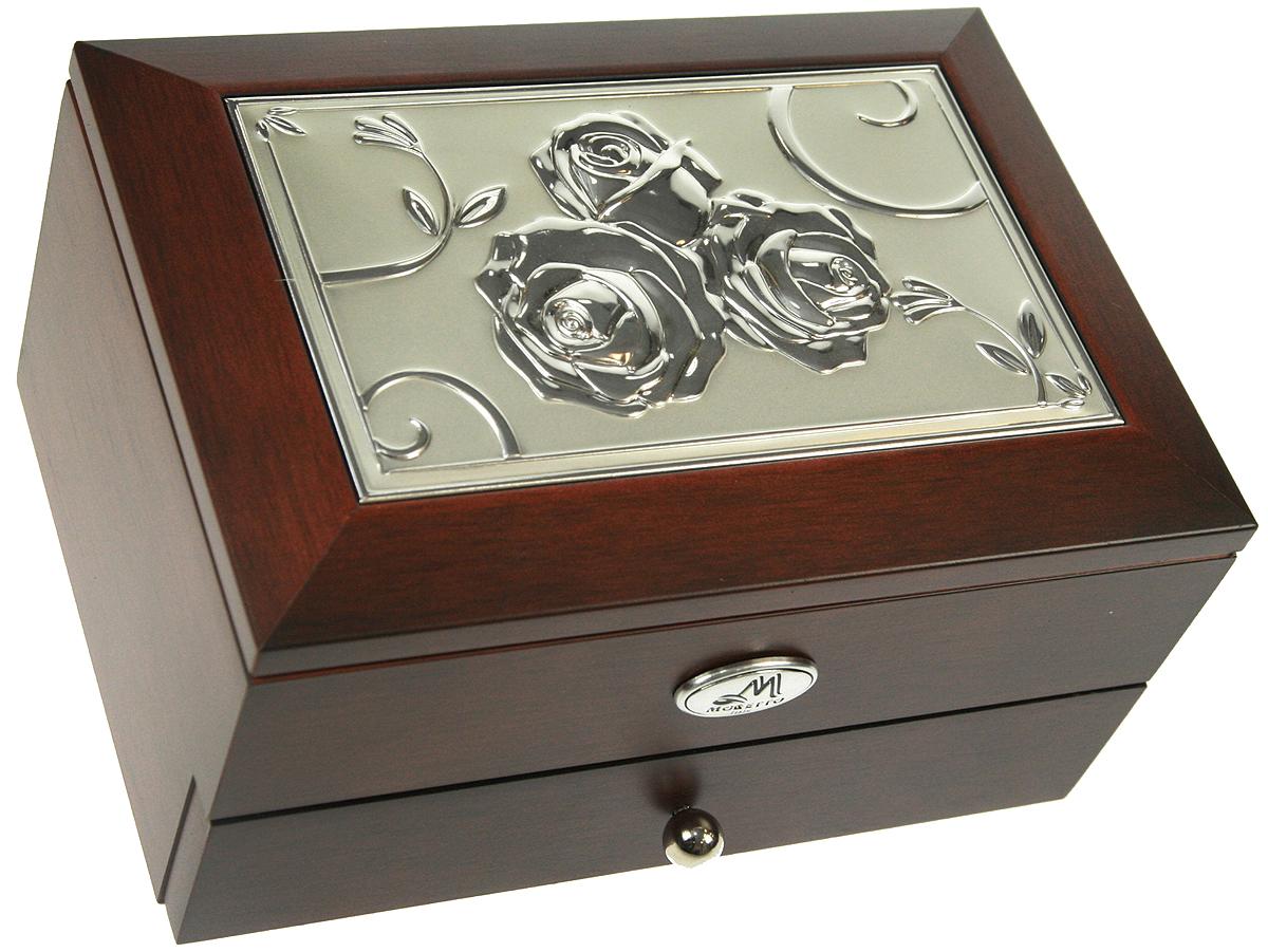 Шкатулка для ювелирных украшений Moretto, 2-х ярусная, 18х13х10 см. 139525139525