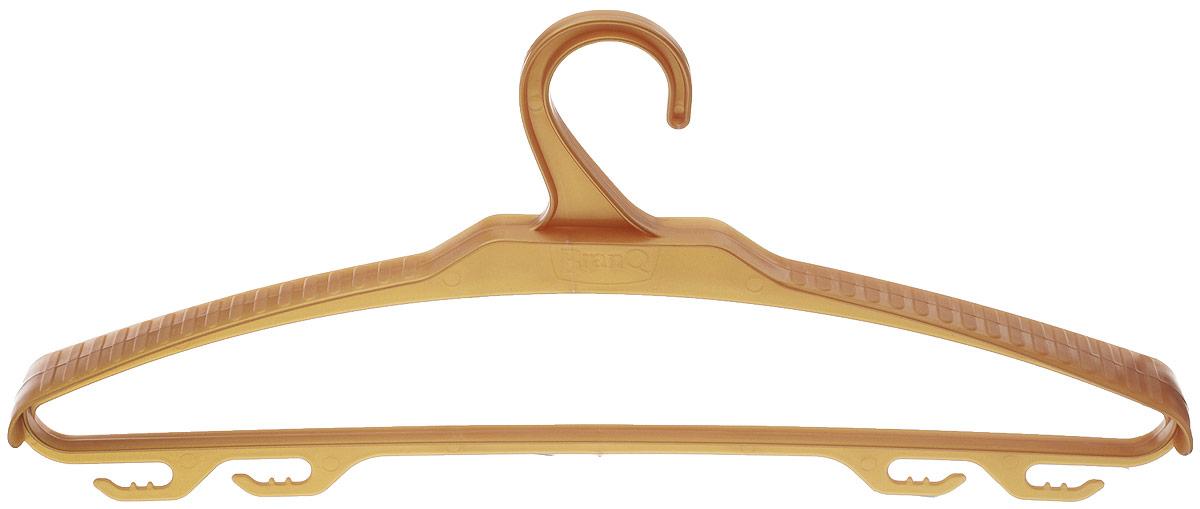 Вешалка для верхней одежды BranQ, цвет: бежевый, размер 48-50BQ1882Вешалка BranQ выполнена из полипропилена. Изделие имеет 4 крючка. Вешалка - это незаменимая вещь для того, чтобы ваша одежда всегда оставалась в хорошем состоянии. Размер одежды: 48-50.