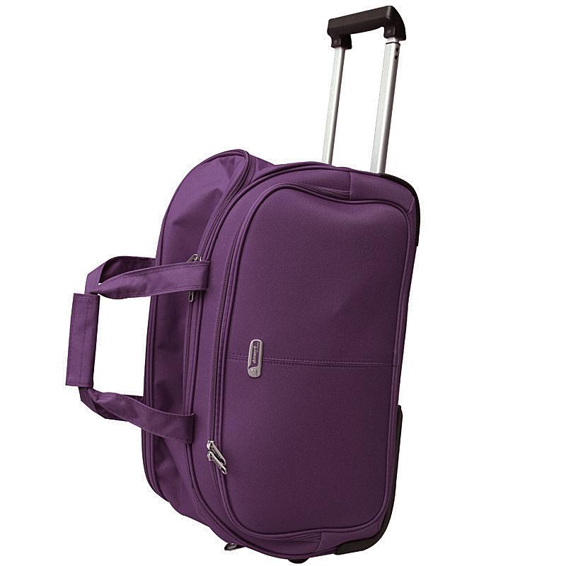 Сумка дорожная на колесах Edmins, цвет: фиолетовый, 55х35х30см3-47670-00504Сумка дорожная на колесах с выдвижной ручкой. Максимальная нагрузка 10 кг.