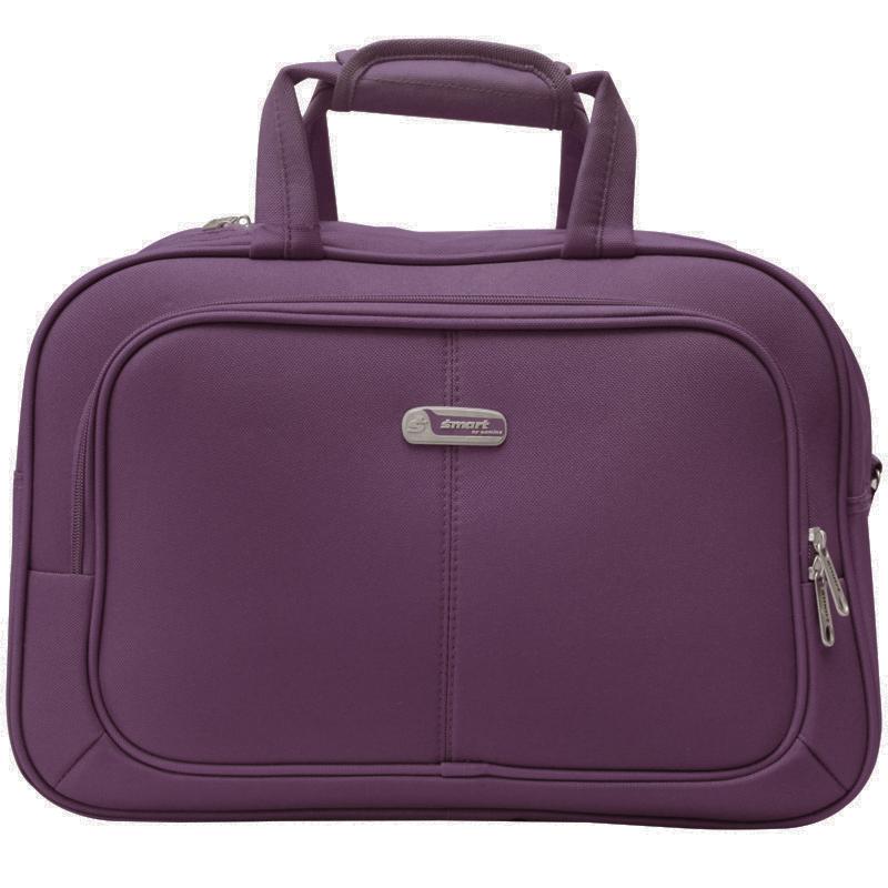 Дорожная сумка Edmins, цвет: фиолетовый, 44х30х16см625 СF 415*9Сумка дорожная. Снаружи на передней стенке карман на молнии. В комплекте плечевой ремень. Максимальный вес нагрузки 5кг. Вес 0,9кг. Используется, как ручная кладь.