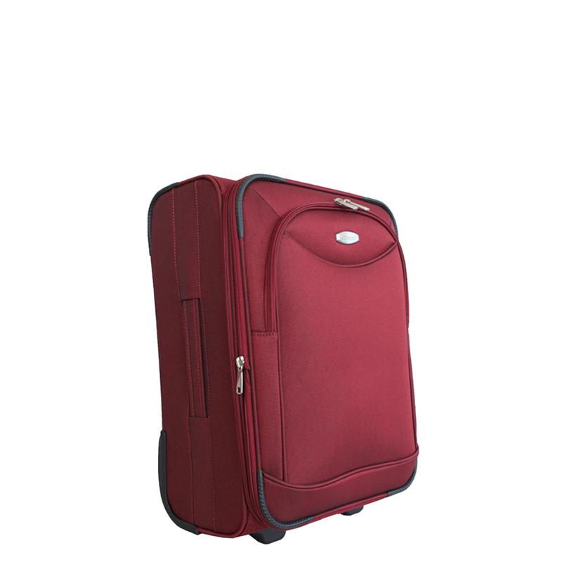 Чемодан-тележка Edmins, цвет: бордовый, 50х35х20см213 НМ 720*2Максимальная нагрузка 10 кг.