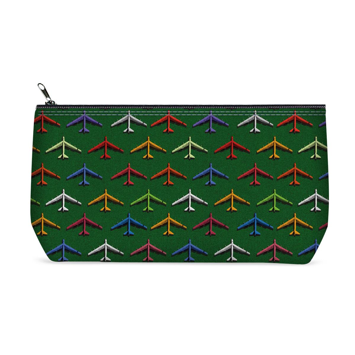 Косметичка ОРЗ-дизайн Самолеты, цвет: светло-зеленый, мультицвет. Орз-0364Орз-0364косметичка текстильная на молнии