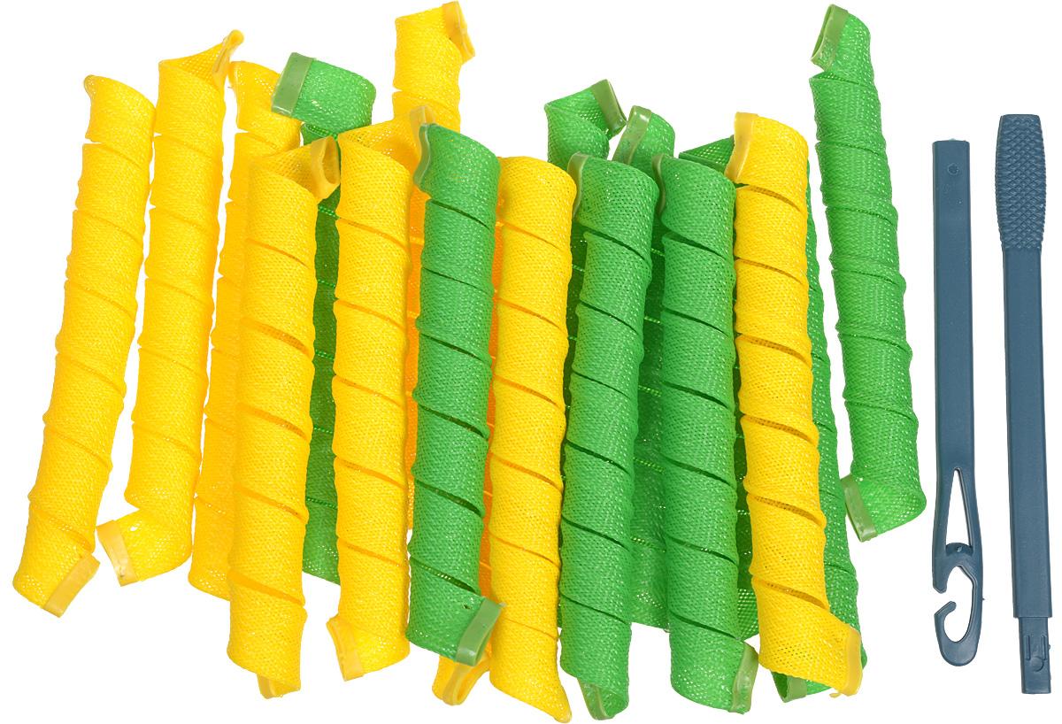 Magic Leverage Волшебные бигуди Средние 48 см, 18 штСр48Волшебные бигуди Magic Leverage, средние-длинные. В комплекте 18 штук бигуди (9 желтых и 9 зеленых). Характеристики: Длина: 48 см Ширина локона: 2,3 см Диаметр завитка: 2,2 см Количество: 18 шт. Крючок: двойной Упаковка: коробка ХВ