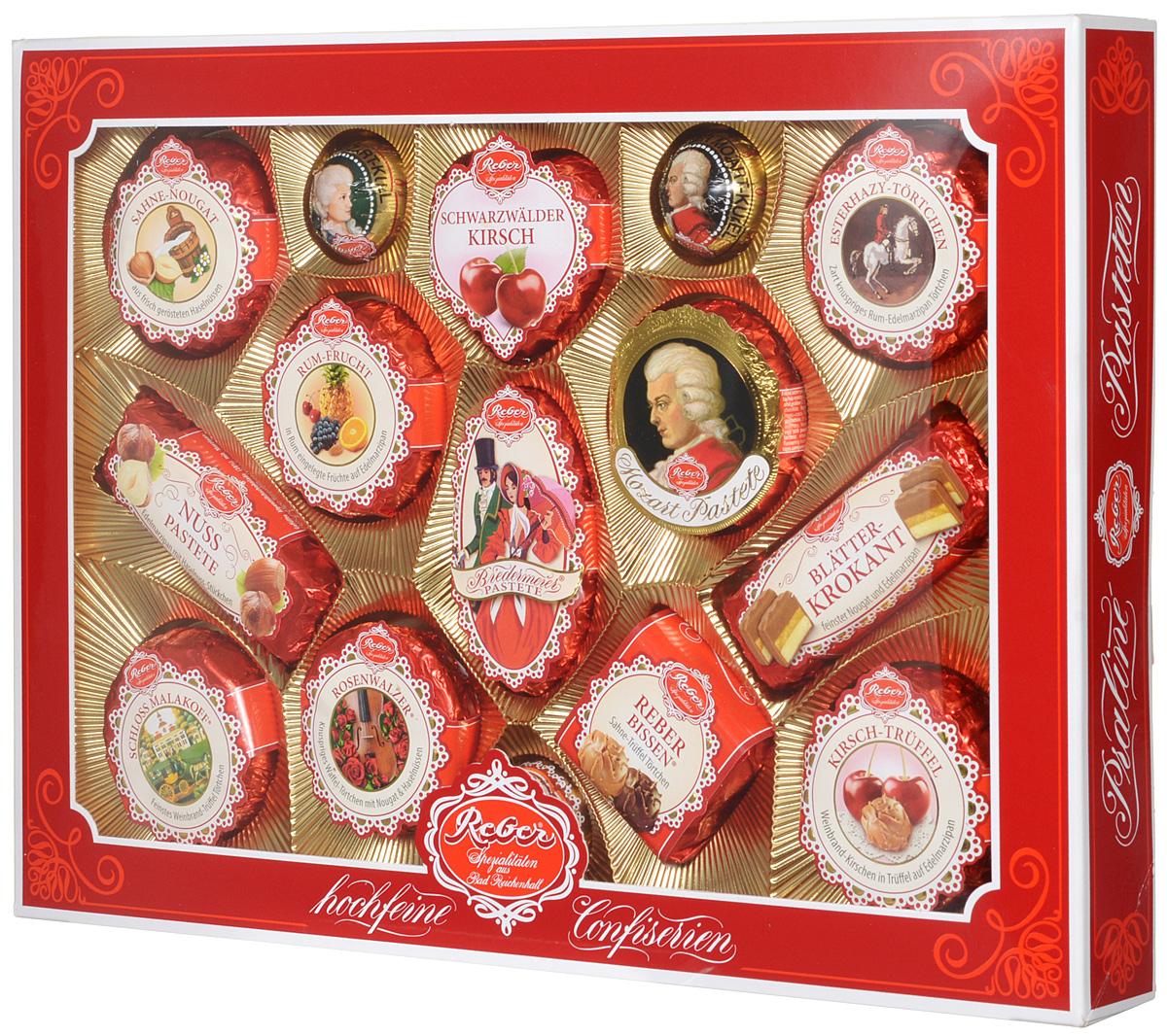 Reber Mozart подарочный набор шоколадных конфет, 525 г (коробка с окном) 1410103
