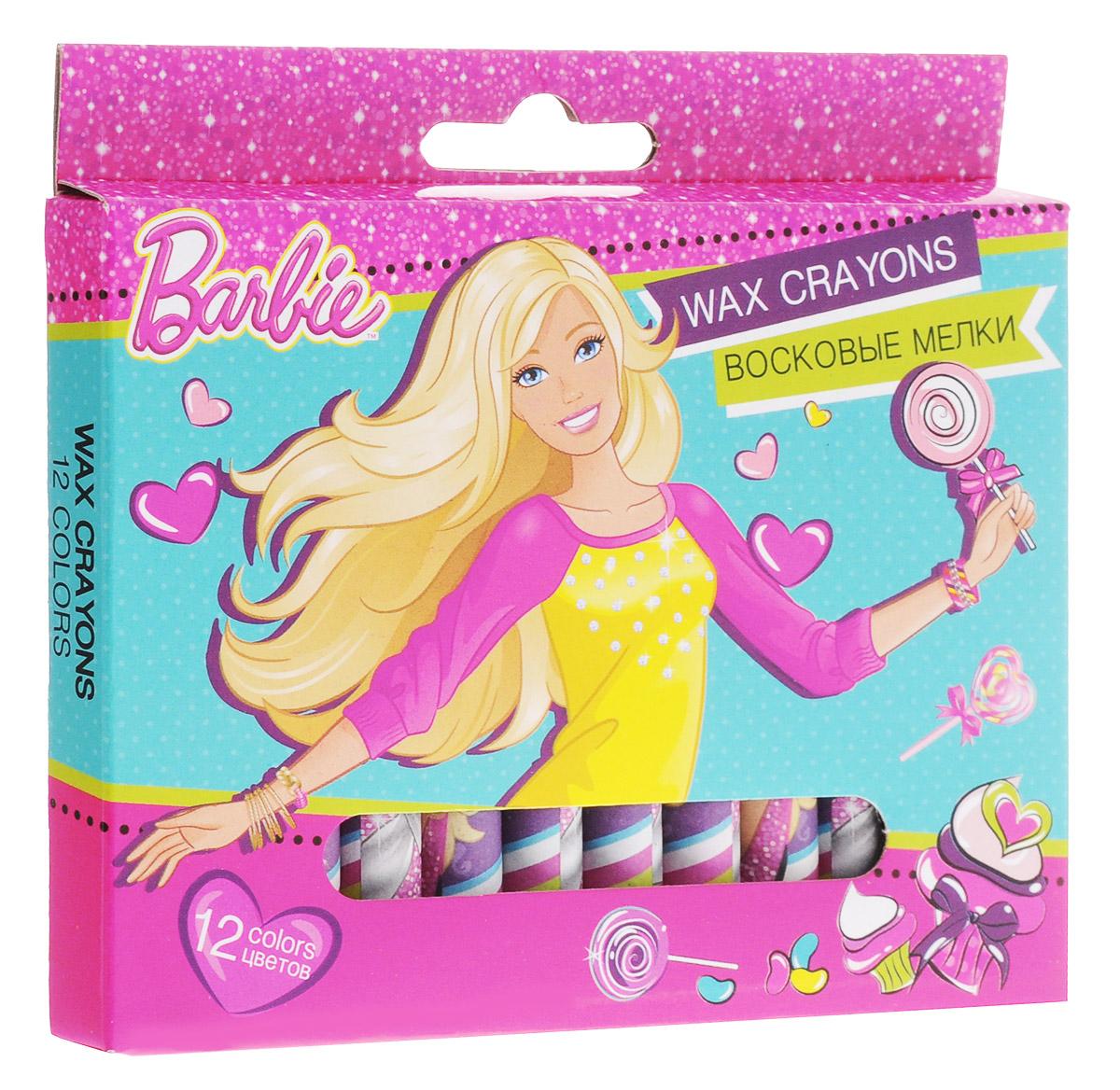 Barbie Восковые мелки 12 цветовPP-220Набор восковых мелков Barbie содержит мелки 12 ярких насыщенных цветов. Каждый мелок обернут в бумажную гильзу. Круглый утолщенный корпус особенно удобен для маленьких детских ручек. Мелки обладают отличными кроющими свойствами, не требуют сильного нажатия. Рисунки мелками стираются обычным ластиком. Не токсичны и абсолютно безопасны. Цветные восковые мелки отличаются необыкновенной яркостью и стойкостью цвета. Легко смешиваются и позволяют создавать огромное количество оттенков. Очень прочные, не крошатся, не ломаются, не образуют пыли, самозатачиваются при рисовании. Восковые мелки откроют юным художникам новые горизонты для творчества, а также помогут отлично развить мелкую моторику рук, цветовое восприятие, фантазию и воображение, способствуют самовыражению.