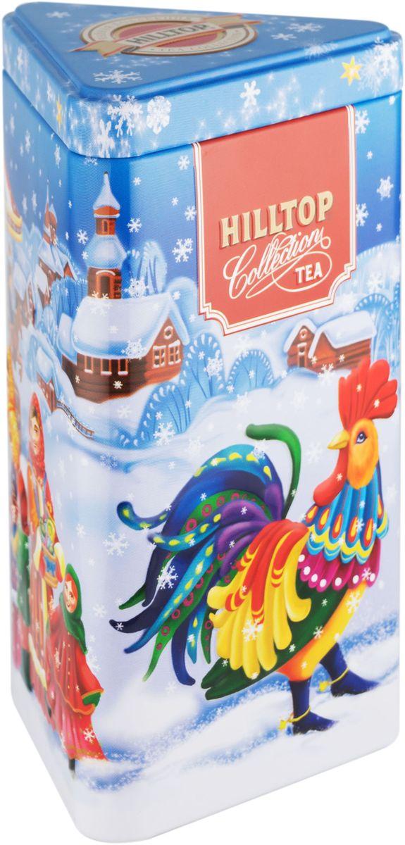 Hilltop Новогодняя ярмарка чай черный листовой с чабрецом, 80 г0120710Чай Hilltop Новогодняя ярмарка - крупнолистовой цейлонский чай с тонизирующим ароматом чабреца.