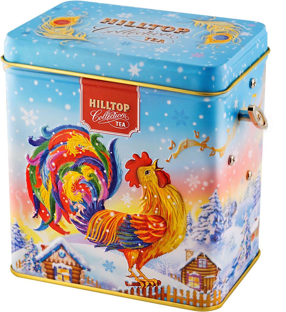 Hilltop Зимняя мелодия Подарок Цейлона черный листовой чай, 100 г0120710Hilltop Подарок Цейлона - крупнолистовой цейлонский черный чай с глубоким, насыщенным вкусом и изумительным ароматом. Поставляется в подарочной металлической упаковкев форме музыкальной шкатулки. Отлично подойдет в качестве подарка на новогодние праздники.