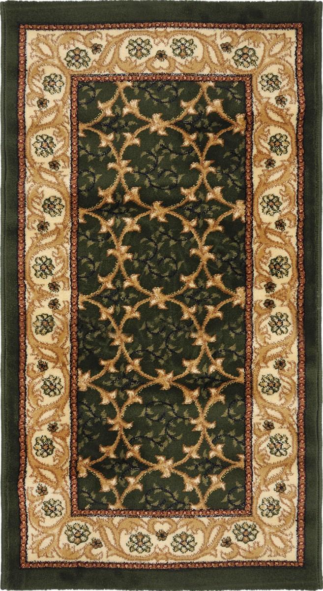 Ковер Kamalak Tekstil, прямоугольный, 60 x 110 см. УК-0220УК-0220Ковер Kamalak Tekstil изготовлен из прочного синтетического материала heat-set, улучшенного варианта полипропилена (эта нить получается в результате его дополнительной обработки). Полипропилен износостоек, нетоксичен, не впитывает влагу, не провоцирует аллергию. Структура волокна в полипропиленовых коврах гладкая, поэтому грязь не будет въедаться и скапливаться на ворсе. Практичный и износоустойчивый ворс не истирается и не накапливает статическое электричество. Ковер обладает хорошими показателями теплостойкости и шумоизоляции. Оригинальный рисунок позволит гармонично оформить интерьер комнаты, гостиной или прихожей. За счет невысокого ворса ковер легко чистить. При надлежащем уходе синтетический ковер прослужит долго, не утратив ни яркости узора, ни блеска ворса, ни упругости. Самый простой способ избавить изделие от грязи - пропылесосить его с обеих сторон (лицевой и изнаночной). Влажная уборка с применением шампуней и...
