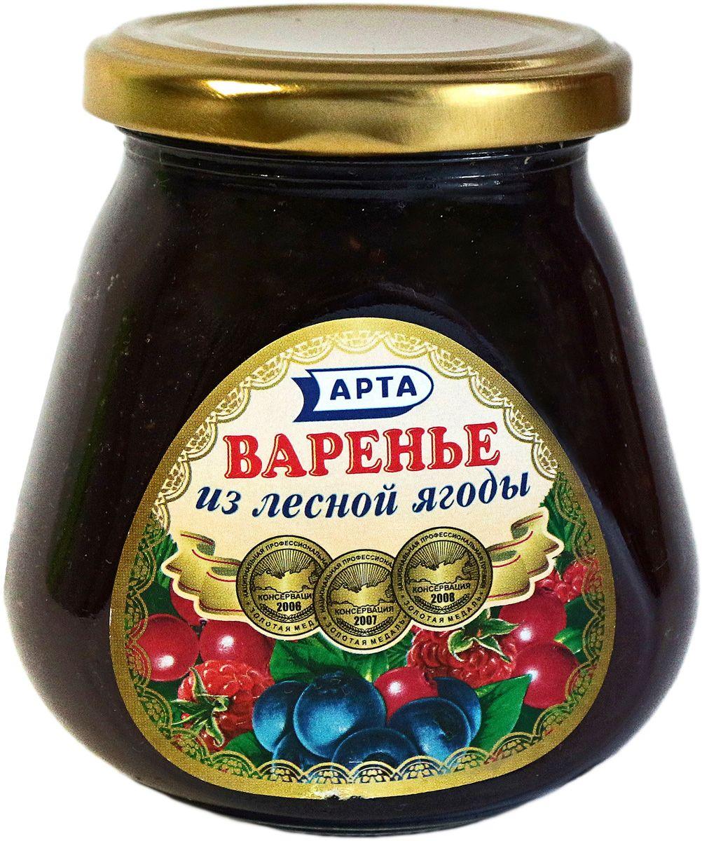 Арта варенье из лесной ягоды, 340 г арта варенье черносмородиновое 500 г