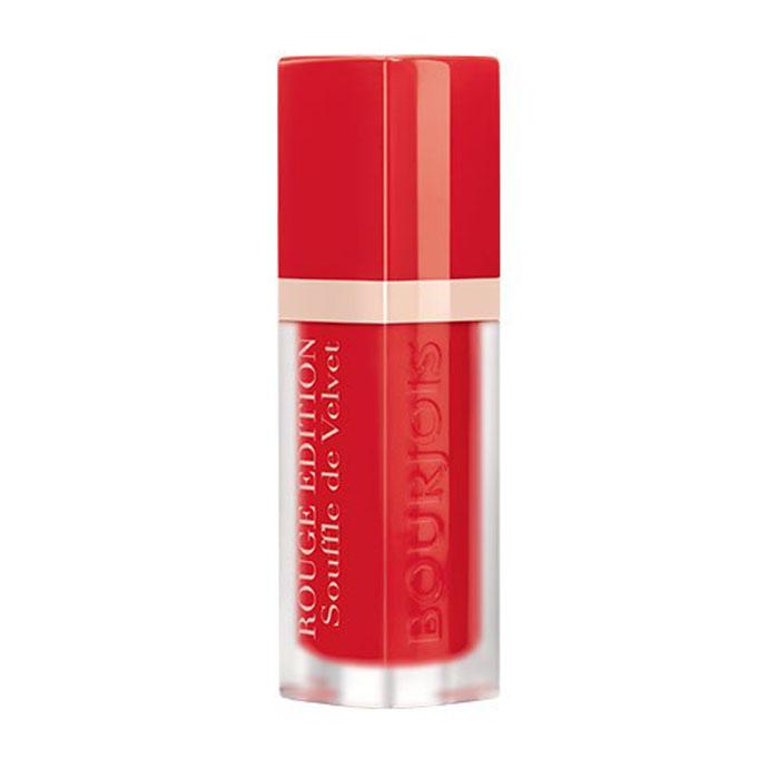 Bourjois Помада для губ Rouge Edition Souffle De Velvet, тон №02, 7,7 г1301207Матовое покрытие и яркий цвет. Легкая, невесомая текстура, не ощутимая на губах. Простое нанесение, абсолютный комфорт и 24-часовая стойкость. Обладает ухаживающими свойствами бальзама; не ощущается на губах; обеспечивает невероятный комфорт.