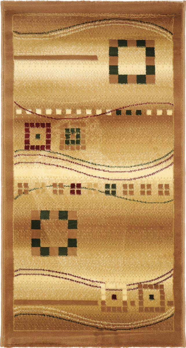 Ковер Kamalak Tekstil, прямоугольный, 60 x 110 см. УК-0082УК-0082Ковер Kamalak Tekstil изготовлен из прочного синтетического материала heat-set, улучшенного варианта полипропилена (эта нить получается в результате его дополнительной обработки). Полипропилен износостоек, нетоксичен, не впитывает влагу, не провоцирует аллергию. Структура волокна в полипропиленовых коврах гладкая, поэтому грязь не будет въедаться и скапливаться на ворсе. Практичный и износоустойчивый ворс не истирается и не накапливает статическое электричество. Ковер обладает хорошими показателями теплостойкости и шумоизоляции. Оригинальный рисунок позволит гармонично оформить интерьер комнаты, гостиной или прихожей. За счет невысокого ворса ковер легко чистить. При надлежащем уходе синтетический ковер прослужит долго, не утратив ни яркости узора, ни блеска ворса, ни упругости. Самый простой способ избавить изделие от грязи - пропылесосить его с обеих сторон (лицевой и изнаночной). Влажная уборка с применением шампуней...