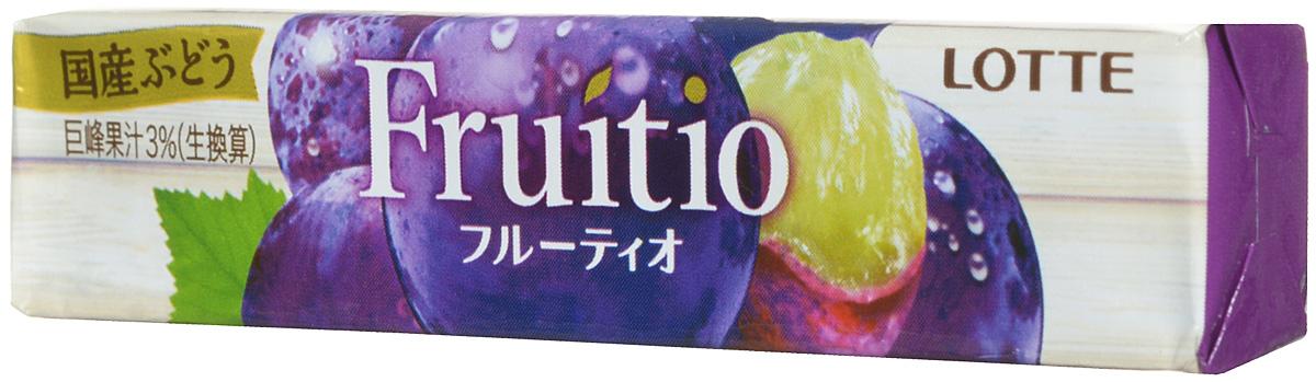 Lotte Fruitio Grape жевательная резинка, 21 г