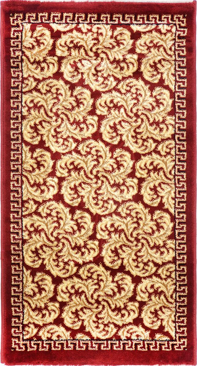 Ковер Kamalak Tekstil, прямоугольный, 60 x 110 см. УК-0300UP210DFКовер Kamalak Tekstil изготовлен из прочного синтетического материала heat-set, улучшенного варианта полипропилена (эта нить получается в результате его дополнительной обработки). Полипропилен износостоек, нетоксичен, не впитывает влагу, не провоцирует аллергию. Структура волокна в полипропиленовых коврах гладкая, поэтому грязь не будет въедаться и скапливаться на ворсе. Практичный и износоустойчивый ворс не истирается и не накапливает статическое электричество. Ковер обладает хорошими показателями теплостойкости и шумоизоляции. Оригинальный рисунок позволит гармонично оформить интерьер комнаты, гостиной или прихожей. За счет невысокого ворса ковер легко чистить. При надлежащем уходе синтетический ковер прослужит долго, не утратив ни яркости узора, ни блеска ворса, ни упругости. Самый простой способ избавить изделие от грязи - пропылесосить его с обеих сторон (лицевой и изнаночной). Влажная уборка с применением шампуней и моющих средств не противопоказана. Хранить рекомендуется в свернутом рулоном виде.