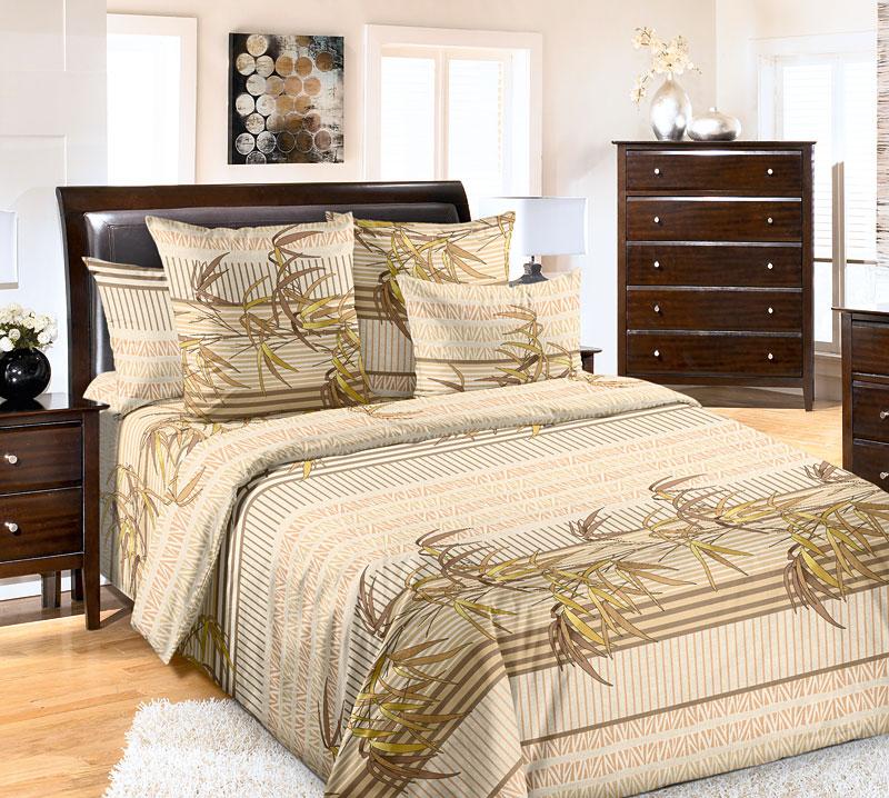 Комплект белья Текс-Дизайн Восток, евро, наволочки 70x70. 4200П4200ПВосточные орнаменты - это не только необычные затейливые узоры, такой декор может быть и простым, лаконичным, но не менее привлекательным. В постельном белье передана вся утонченность восточной природы, которая отражена стильными растительным узорами и орнаментами. Спокойные коричневые и зеленые тона подчеркивают особое настроение, создаваемое этим комплектом. Перкаль - это тонкая и легкая хлопчатобумажная ткань высокой плотности полотняного переплетения, сотканная из пряжи высоких номеров. При изготовлении перкаля используются длинноволокнистые сорта хлопка, что обеспечивает высокие потребительские свойства материала. Несмотря на свою утонченность, перкаль очень практичен – это одна из самых износостойких тканей для постельного белья.