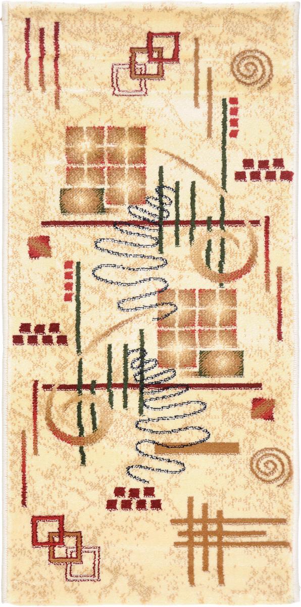 Ковер Kamalak Tekstil, прямоугольный, 50 x 100 см. УК-04448033-3Ковер Kamalak Tekstil изготовлен из прочного синтетического материала heat-set, улучшенного варианта полипропилена (эта нить получается в результате его дополнительной обработки). Полипропилен износостоек, нетоксичен, не впитывает влагу, не провоцирует аллергию. Структура волокна в полипропиленовых коврах гладкая, поэтому грязь не будет въедаться и скапливаться на ворсе. Практичный и износоустойчивый ворс не истирается и не накапливает статическое электричество. Ковер обладает хорошими показателями теплостойкости и шумоизоляции. Оригинальный рисунок позволит гармонично оформить интерьер комнаты, гостиной или прихожей. За счет невысокого ворса ковер легко чистить. При надлежащем уходе синтетический ковер прослужит долго, не утратив ни яркости узора, ни блеска ворса, ни упругости. Самый простой способ избавить изделие от грязи - пропылесосить его с обеих сторон (лицевой и изнаночной). Влажная уборка с применением шампуней и моющих средств не противопоказана. Хранить рекомендуется в свернутом рулоном виде.