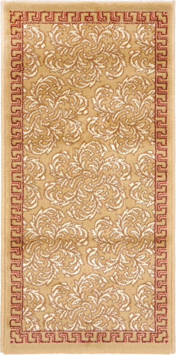 Ковер Kamalak Tekstil, прямоугольный, 50 x 100 см. УК-0493УК-0493Ковер Kamalak Tekstil изготовлен из прочного синтетического материала heat-set, улучшенного варианта полипропилена (эта нить получается в результате его дополнительной обработки). Полипропилен износостоек, нетоксичен, не впитывает влагу, не провоцирует аллергию. Структура волокна в полипропиленовых коврах гладкая, поэтому грязь не будет въедаться и скапливаться на ворсе. Практичный и износоустойчивый ворс не истирается и не накапливает статическое электричество. Ковер обладает хорошими показателями теплостойкости и шумоизоляции. Оригинальный рисунок позволит гармонично оформить интерьер комнаты, гостиной или прихожей. За счет невысокого ворса ковер легко чистить. При надлежащем уходе синтетический ковер прослужит долго, не утратив ни яркости узора, ни блеска ворса, ни упругости. Самый простой способ избавить изделие от грязи - пропылесосить его с обеих сторон (лицевой и изнаночной). Влажная уборка с применением шампуней и...