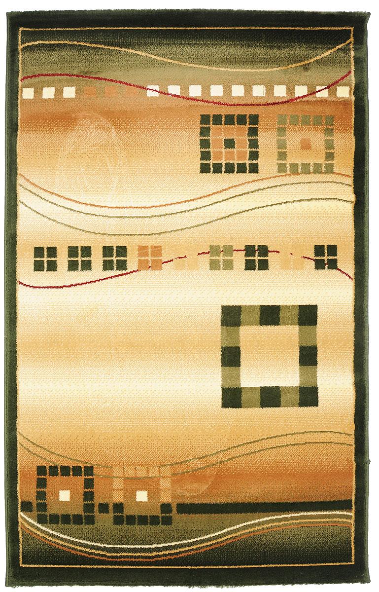 Ковер Kamalak Tekstil, прямоугольный, 100 x 150 см. УК-0077УК-0077Ковер Kamalak Tekstil изготовлен из прочного синтетического материала heat-set, улучшенного варианта полипропилена (эта нить получается в результате его дополнительной обработки). Полипропилен износостоек, нетоксичен, не впитывает влагу, не провоцирует аллергию. Структура волокна в полипропиленовых коврах гладкая, поэтому грязь не будет въедаться и скапливаться на ворсе. Практичный и износоустойчивый ворс не истирается и не накапливает статическое электричество. Ковер обладает хорошими показателями теплостойкости и шумоизоляции. Оригинальный рисунок позволит гармонично оформить интерьер комнаты, гостиной или прихожей. За счет невысокого ворса ковер легко чистить. При надлежащем уходе синтетический ковер прослужит долго, не утратив ни яркости узора, ни блеска ворса, ни упругости. Самый простой способ избавить изделие от грязи - пропылесосить его с обеих сторон (лицевой и изнаночной). Влажная уборка с применением шампуней и...
