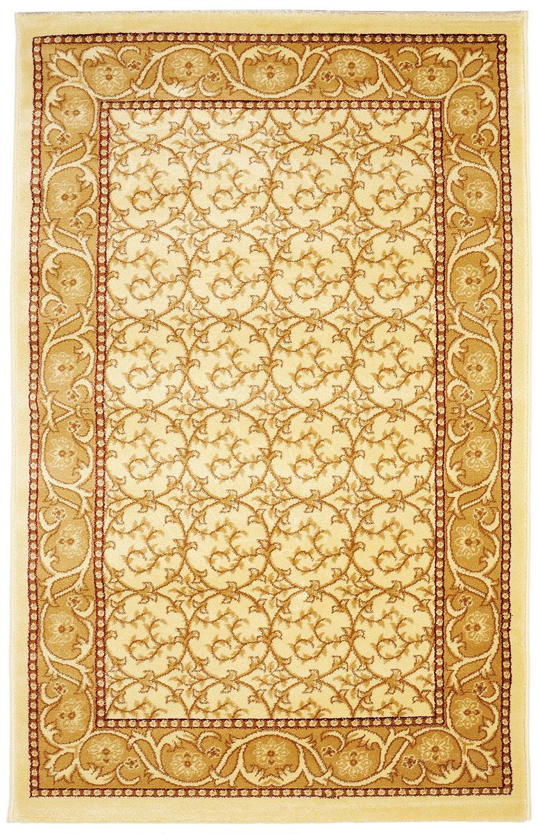Ковер Kamalak Tekstil, прямоугольный, 100 x 150 см. УК-0215УК-0215Ковер Kamalak Tekstil изготовлен из прочного синтетического материала heat-set, улучшенного варианта полипропилена (эта нить получается в результате его дополнительной обработки). Полипропилен износостоек, нетоксичен, не впитывает влагу, не провоцирует аллергию. Структура волокна в полипропиленовых коврах гладкая, поэтому грязь не будет въедаться и скапливаться на ворсе. Практичный и износоустойчивый ворс не истирается и не накапливает статическое электричество. Ковер обладает хорошими показателями теплостойкости и шумоизоляции. Оригинальный рисунок позволит гармонично оформить интерьер комнаты, гостиной или прихожей. За счет невысокого ворса ковер легко чистить. При надлежащем уходе синтетический ковер прослужит долго, не утратив ни яркости узора, ни блеска ворса, ни упругости. Самый простой способ избавить изделие от грязи - пропылесосить его с обеих сторон (лицевой и изнаночной). Влажная уборка с применением шампуней и...