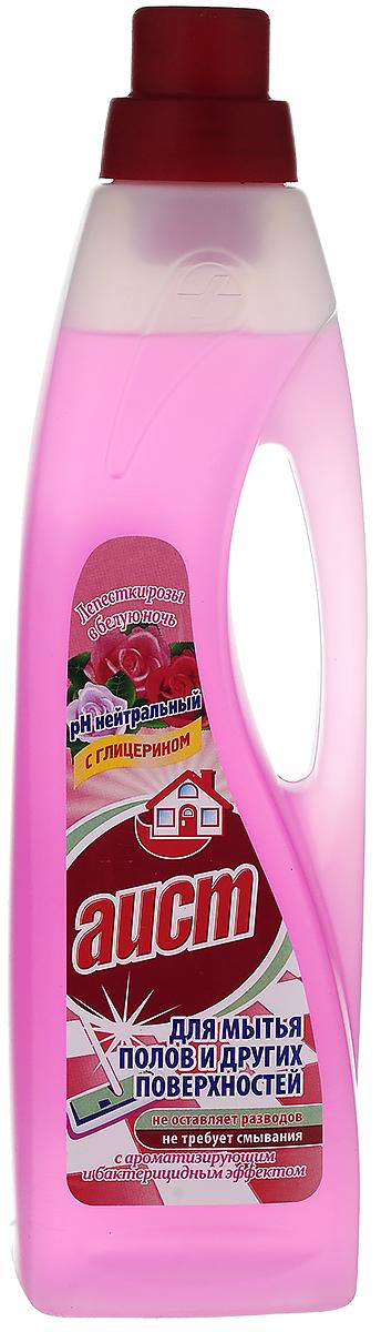 """Средство для мытья полов и других поверхностей Аист """"Лепестки розы в белую ночь"""", с ароматизирующим и бактерицидным эффектом, 950 мл"""