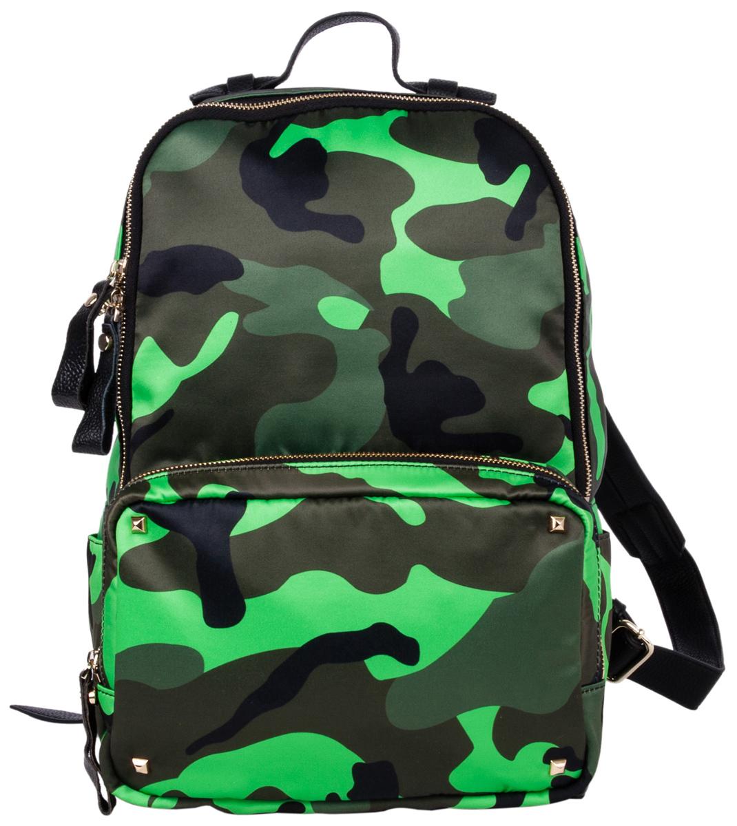 Рюкзак городской Pola, цвет: коричневый, зеленый, 16 л. 9040BP-001 BKСтильный женский рюкзак этого сезона - идеальное решение для города и путешествий. Центральный отсек предназначен для персональных вещей. Внутри - карман на молнии и два открытых кармашка. Снаружи - накладной карман на молнии спереди рюкзака. Мягкие кожаные лямки с регулируемой длиной.