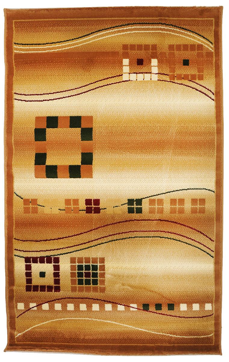 Ковер Kamalak Tekstil, прямоугольный, 100 x 150 см. УК-0080UP210DFКовер Kamalak Tekstil изготовлен из прочного синтетического материала heat-set, улучшенного варианта полипропилена (эта нить получается в результате его дополнительной обработки). Полипропилен износостоек, нетоксичен, не впитывает влагу, не провоцирует аллергию. Структура волокна в полипропиленовых коврах гладкая, поэтому грязь не будет въедаться и скапливаться на ворсе. Практичный и износоустойчивый ворс не истирается и не накапливает статическое электричество. Ковер обладает хорошими показателями теплостойкости и шумоизоляции. Оригинальный рисунок позволит гармонично оформить интерьер комнаты, гостиной или прихожей. За счет невысокого ворса ковер легко чистить. При надлежащем уходе синтетический ковер прослужит долго, не утратив ни яркости узора, ни блеска ворса, ни упругости. Самый простой способ избавить изделие от грязи - пропылесосить его с обеих сторон (лицевой и изнаночной). Влажная уборка с применением шампуней и моющих средств не противопоказана. Хранить рекомендуется в свернутом рулоном виде.