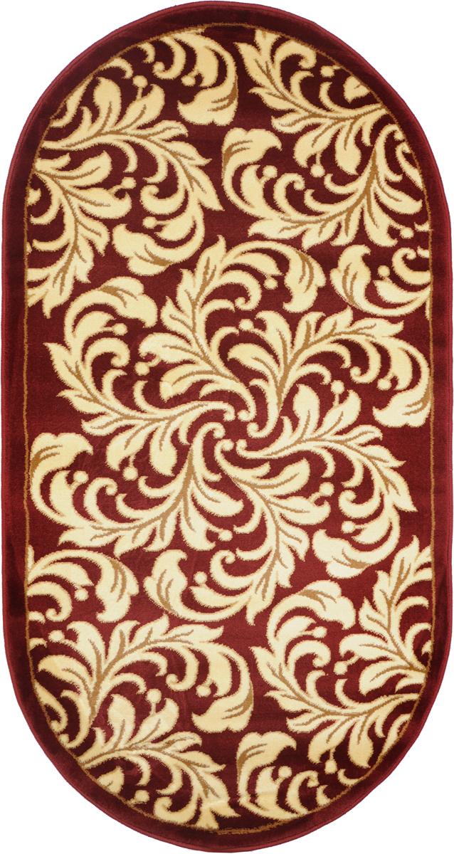 Ковер Kamalak Tekstil, овальный, 80 x 150 см. УК-0329UP210DFКовер Kamalak Tekstil изготовлен из прочного синтетического материала heat-set, улучшенного варианта полипропилена (эта нить получается в результате его дополнительной обработки). Полипропилен износостоек, нетоксичен, не впитывает влагу, не провоцирует аллергию. Структура волокна в полипропиленовых коврах гладкая, поэтому грязь не будет въедаться и скапливаться на ворсе. Практичный и износоустойчивый ворс не истирается и не накапливает статическое электричество. Ковер обладает хорошими показателями теплостойкости и шумоизоляции. Оригинальный рисунок позволит гармонично оформить интерьер комнаты, гостиной или прихожей. За счет невысокого ворса ковер легко чистить. При надлежащем уходе синтетический ковер прослужит долго, не утратив ни яркости узора, ни блеска ворса, ни упругости. Самый простой способ избавить изделие от грязи - пропылесосить его с обеих сторон (лицевой и изнаночной). Влажная уборка с применением шампуней и моющих средств не противопоказана. Хранить рекомендуется в свернутом рулоном виде.