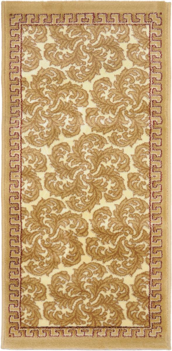 Ковер Kamalak Tekstil, прямоугольный, 50 x 100 см. УК-0494УК-0494Ковер Kamalak Tekstil изготовлен из прочного синтетического материала heat-set, улучшенного варианта полипропилена (эта нить получается в результате его дополнительной обработки). Полипропилен износостоек, нетоксичен, не впитывает влагу, не провоцирует аллергию. Структура волокна в полипропиленовых коврах гладкая, поэтому грязь не будет въедаться и скапливаться на ворсе. Практичный и износоустойчивый ворс не истирается и не накапливает статическое электричество. Ковер обладает хорошими показателями теплостойкости и шумоизоляции. Оригинальный рисунок позволит гармонично оформить интерьер комнаты, гостиной или прихожей. За счет невысокого ворса ковер легко чистить. При надлежащем уходе синтетический ковер прослужит долго, не утратив ни яркости узора, ни блеска ворса, ни упругости. Самый простой способ избавить изделие от грязи - пропылесосить его с обеих сторон (лицевой и изнаночной). Влажная уборка с применением шампуней и моющих средств не противопоказана. ...