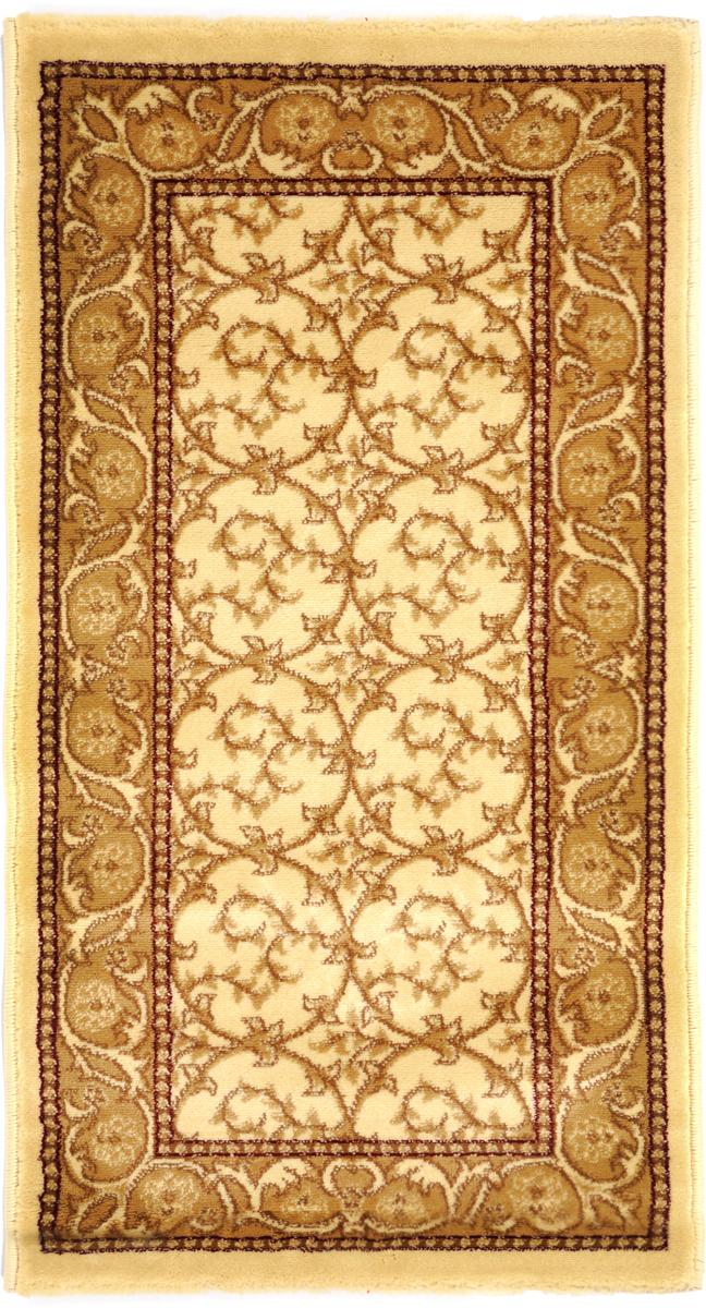 Ковер Kamalak Tekstil, прямоугольный, 60 x 110 см. УК-0217УК-0217Ковер Kamalak Tekstil изготовлен из прочного синтетического материала heat-set, улучшенного варианта полипропилена (эта нить получается в результате его дополнительной обработки). Полипропилен износостоек, нетоксичен, не впитывает влагу, не провоцирует аллергию. Структура волокна в полипропиленовых коврах гладкая, поэтому грязь не будет въедаться и скапливаться на ворсе. Практичный и износоустойчивый ворс не истирается и не накапливает статическое электричество. Ковер обладает хорошими показателями теплостойкости и шумоизоляции. Оригинальный рисунок позволит гармонично оформить интерьер комнаты, гостиной или прихожей. За счет невысокого ворса ковер легко чистить. При надлежащем уходе синтетический ковер прослужит долго, не утратив ни яркости узора, ни блеска ворса, ни упругости. Самый простой способ избавить изделие от грязи - пропылесосить его с обеих сторон (лицевой и изнаночной). Влажная уборка с применением шампуней и моющих средств не противопоказана. ...