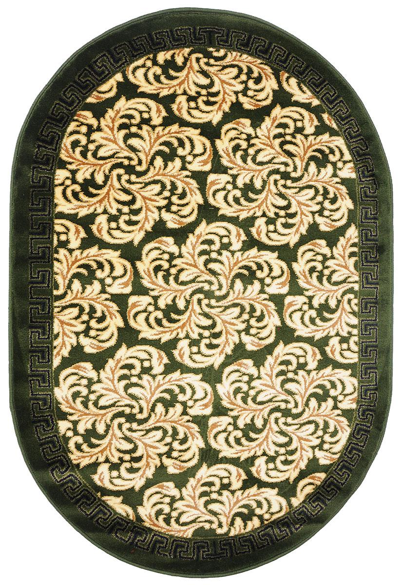 Ковер Kamalak Tekstil, овальный, 100 x 150 см. УК-029120711Ковер Kamalak Tekstil изготовлен из прочного синтетического материала heat-set, улучшенного варианта полипропилена (эта нить получается в результате его дополнительной обработки). Полипропилен износостоек, нетоксичен, не впитывает влагу, не провоцирует аллергию. Структура волокна в полипропиленовых коврах гладкая, поэтому грязь не будет въедаться и скапливаться на ворсе. Практичный и износоустойчивый ворс не истирается и не накапливает статическое электричество. Ковер обладает хорошими показателями теплостойкости и шумоизоляции. Оригинальный рисунок позволит гармонично оформить интерьер комнаты, гостиной или прихожей. За счет невысокого ворса ковер легко чистить. При надлежащем уходе синтетический ковер прослужит долго, не утратив ни яркости узора, ни блеска ворса, ни упругости. Самый простой способ избавить изделие от грязи - пропылесосить его с обеих сторон (лицевой и изнаночной). Влажная уборка с применением шампуней и моющих средств не противопоказана. Хранить рекомендуется в свернутом рулоном виде.