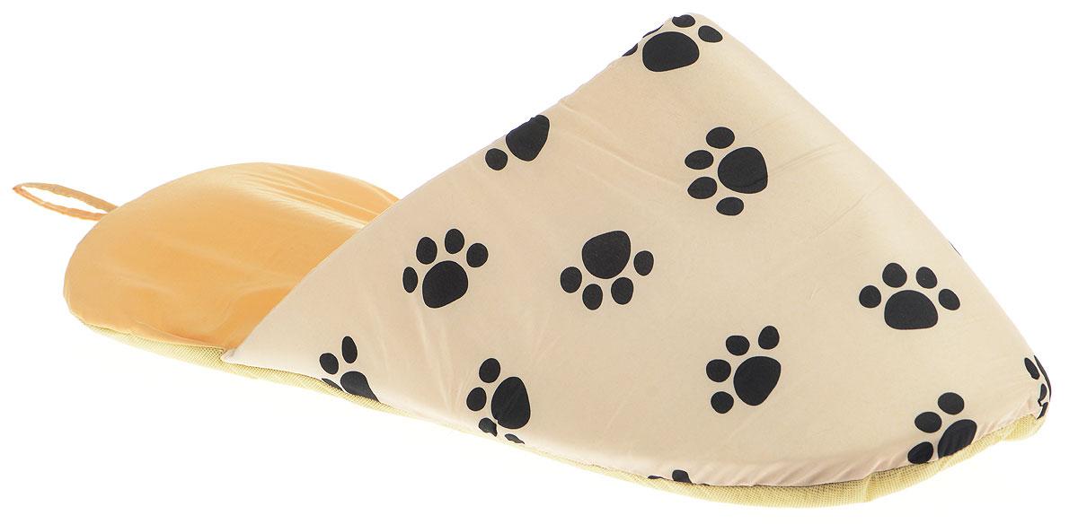 Лежанка для животных Pet Fun Тапок, цвет: бежевый, черный, 72 х 34 х 25 смYF2087N-LЛежанка для животных Pet Fun Тапок, выполненная из полиэстера, поддерживает температурный баланс вашего питомца и зимой, и летом. Она имеет оригинальный дизайн в виде тапка. Наполнитель выполнен из поролона. Лежанка легко складывается для хранения и перевозки. Изделие оснащено петелькой для подвешивания. Только ручная стирка при температуре 30°С.